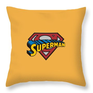 Superman T-shirt Throw Pillow by Herb Strobino