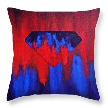 Superman Throw Pillow by Herschel Fall