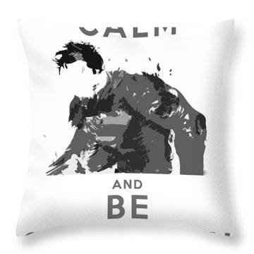 Superman Keep Calm Throw Pillow