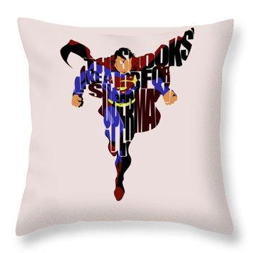 Superman - Man Of Steel Throw Pillow