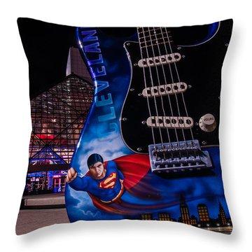 Superman Rocks Throw Pillow
