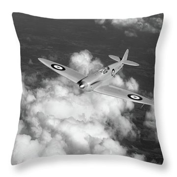 Throw Pillow featuring the photograph Supermarine Spitfire Prototype K5054 Black And White Version by Gary Eason