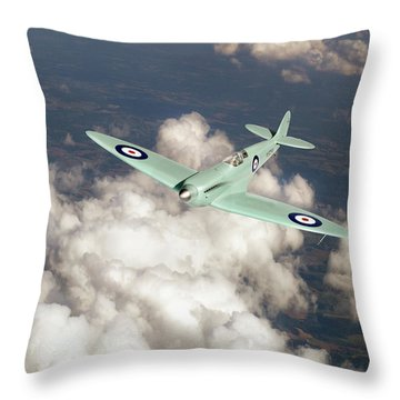 Throw Pillow featuring the photograph Supermarine Spitfire Prototype K5054 by Gary Eason