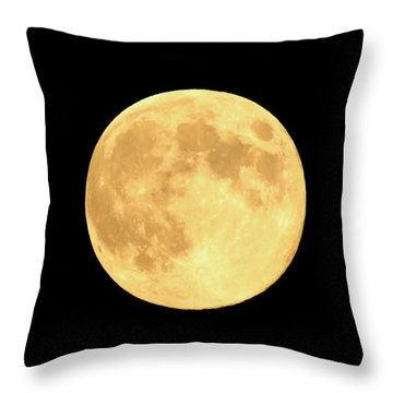 Supermoon Full Moon Throw Pillow