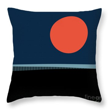 Throw Pillow featuring the digital art Supermoon Over The Sea by Klara Acel
