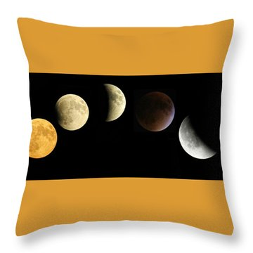 Supermoon Total Lunar Eclipse Throw Pillow