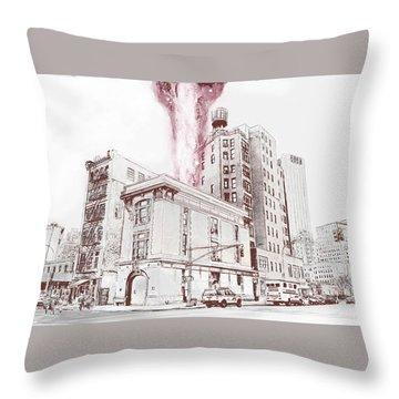 Supernatural Insurance Claim Throw Pillow by Kurt Ramschissel