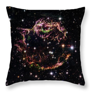Throw Pillow featuring the photograph Supernova Remnant Cassiopeia A by Marco Oliveira