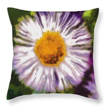 Supernove Daisy Throw Pillow