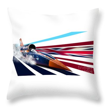 Supersonic Brit Throw Pillow