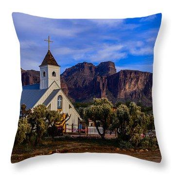 Superstition Church Throw Pillow