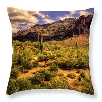 Superstition Mountain And Wilderness Throw Pillow