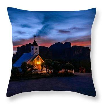 Superstition Sunrise Throw Pillow