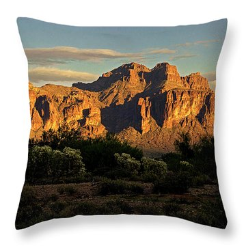 Superstitions At Sunset  Throw Pillow