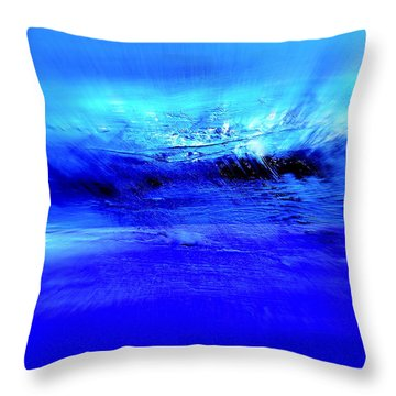 Superstorm At Sea Throw Pillow