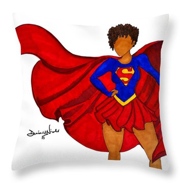 Superwoman I Am  Throw Pillow by Diamin Nicole