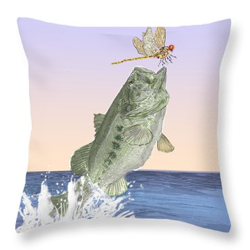Supper Time Throw Pillow by Barry Jones