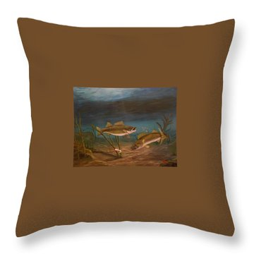 Supper Time Throw Pillow by Sheri Keith