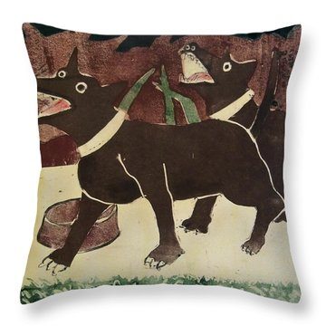 Suppertime Throw Pillow