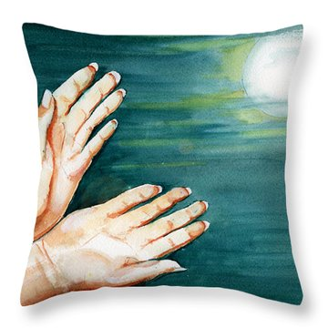 Supplication Throw Pillow