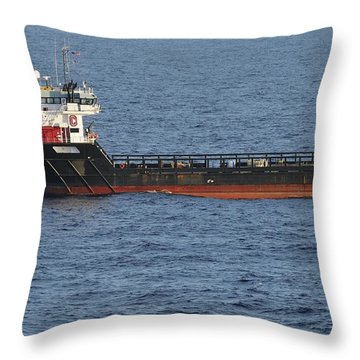 Throw Pillow featuring the photograph Supply Vessel Claire Candies by Bradford Martin