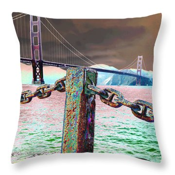 Supporting Post Throw Pillow