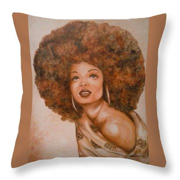 Miss Diana  Throw Pillow