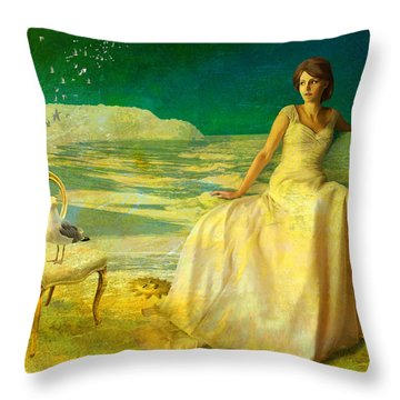 Sur La Mer Throw Pillow by Van Renselar