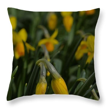 Sure Enough Spring Throw Pillow by Tim Good