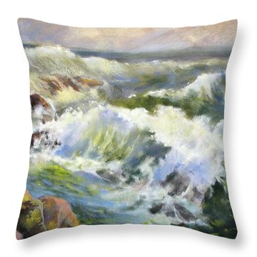 Surf Action Throw Pillow