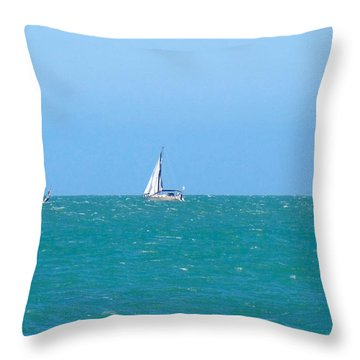 Surf And Sail The Sea Throw Pillow