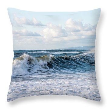 Surf And Sky Throw Pillow