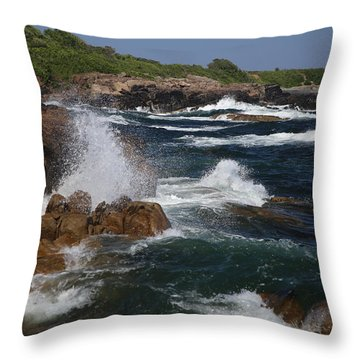 Surf At Biddeford Pool Throw Pillow