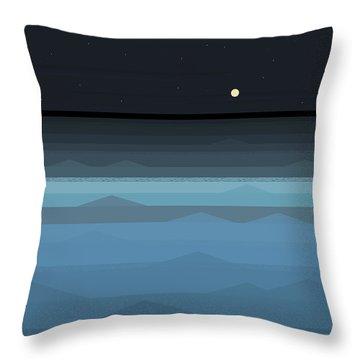 Surf At Night Throw Pillow