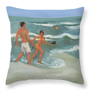 Surf Ball Throw Pillow