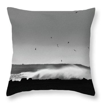 Surf Birds Throw Pillow