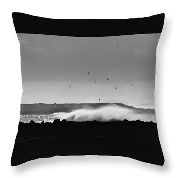 Surf Birds Throw Pillow