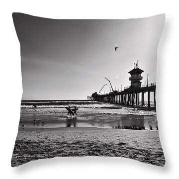 Surf Break Throw Pillow