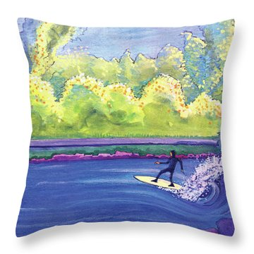 Surf Colorado Throw Pillow