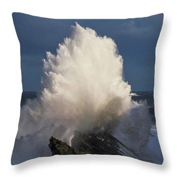 Surf Eruption Throw Pillow