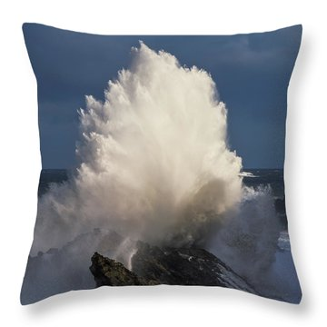 Surf Eruption Throw Pillow