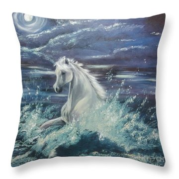 White Spirit Throw Pillow