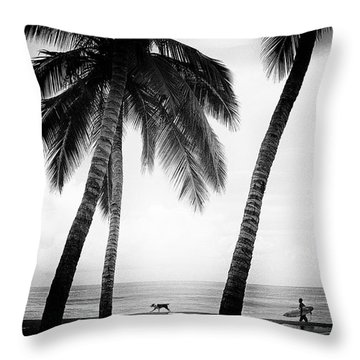 Throw Pillow featuring the photograph Surf Mates by Nik West