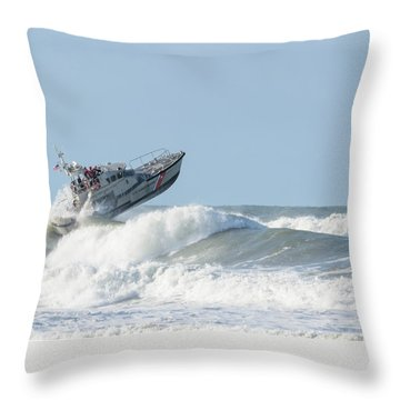 Surf Rescue Boat V2 Throw Pillow