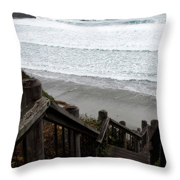 Surf Stairway Throw Pillow