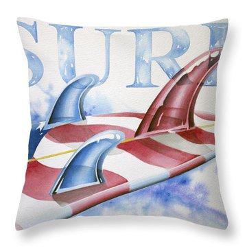 Surf Usa Throw Pillow