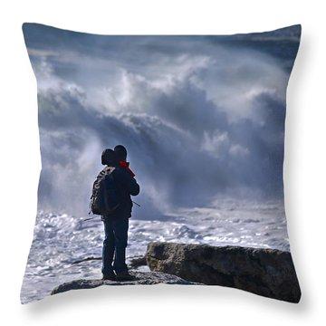 Surf Watcher Throw Pillow