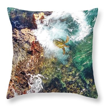 Surfacing Throw Pillow by James Roemmling