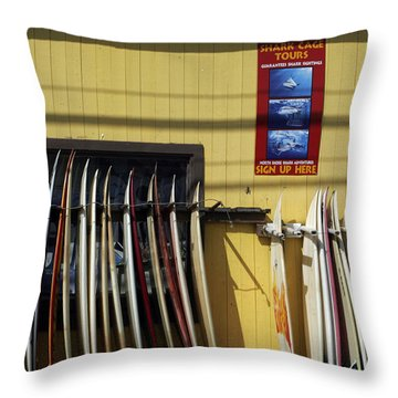 Surfboard Selection Throw Pillow