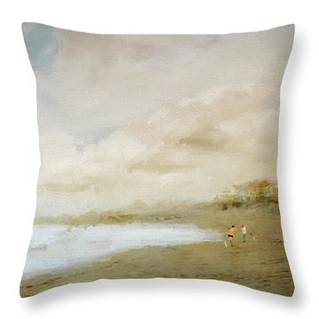 Surfcasters Throw Pillow